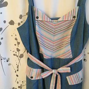 ModCloth Blue Picnic Dress